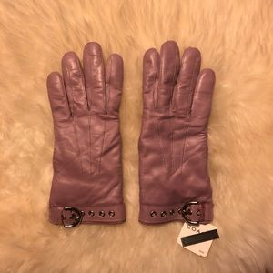 NWT Leather Coach Gloves in Lavender